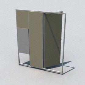 Lateral de hormigon de 150 con puerta y gatera