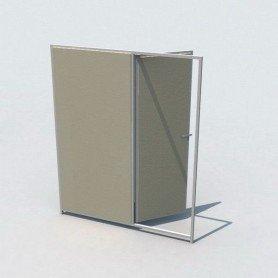 Frente con puerta de hormigon 150