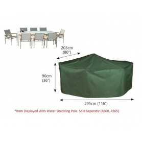 C535 Funda conjunto mesa rectangular c8 sillas + mastil
