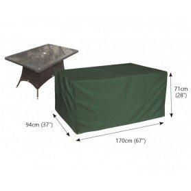 C555 Funda mesa rectangular jardín 170x94 cm PVC