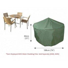 C520 Funda mesa circular jardín y 4-6 asientos
