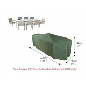 C537 Funda mesa rectangular jardín 8-10 Pvc