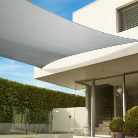 Toldo cuadrado Coolaroo 5.4x5.4 color blanco