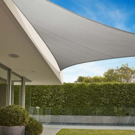 Toldo triangular Coolaroo 5x5x5 color blanco