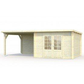 Casita de madera Ella 6,9 + 8,2 m2