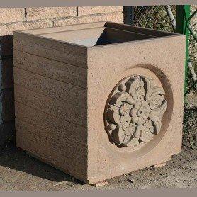 Jardinera Bolardo imitación madera