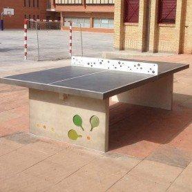 Mobiliario de hormig n for Mesa de ping pong exterior