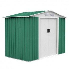 Caseta metálica glasgow verde 6.3 m2