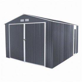 Garaje metálica Durham gris 15.36 m2