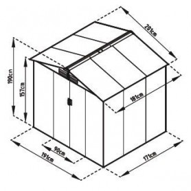 Caseta metalica Gardiun Manchester 3,64m2
