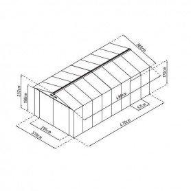 Garaje metalico Gardiun Kent 18,24m2