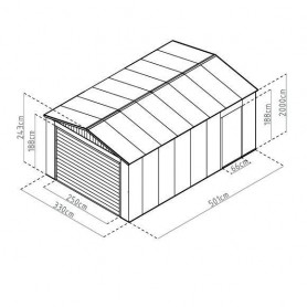 Garaje metalico Gardiun Leicester 17,85m2