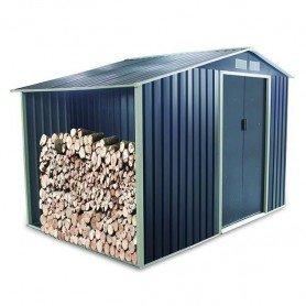 Caseta metalica con leñero Gardiun Toronto 3,53 m2