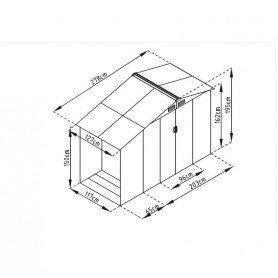Caseta metalica con leñero Gardiun Toronto