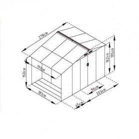 Caseta metalica con leñero Gardiun Ontario