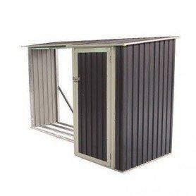Caseta metalica con leñero Gardiun Montreal 3,07 m2