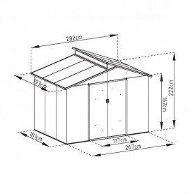 Caseta metalica Gardiun Windsor 5,44 m2