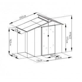 Caseta metalica Gardiun Nottingham 3,78 m2
