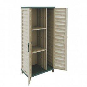 Armario de jardin Gardiun Cabinet resina 74,5x43,5x157,5