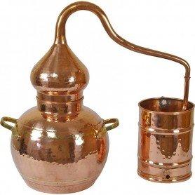 Alambique de cobre funcional 1 litro