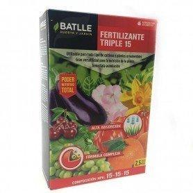 Fertilizante triple 1.5 kg battle