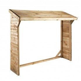 Leñero de madera Olbia