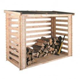 Leñero de madera Come