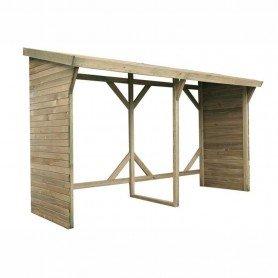 Leñero de madera Montreal