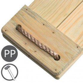Asiento madera largo Masgames
