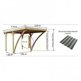 Carport de madera Evolution