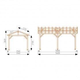 Carport de madera Vercors con autoclave