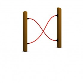 Valla cuerdas para circuito canino
