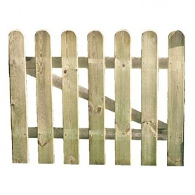 Puerta para valla clásica