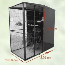 Voladero de 2m2 (2x1m) 3 Paneles corta vientos