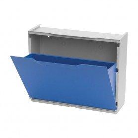 Zapatero de plastico Azul
