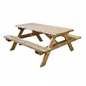 Mesa picnic madera Robuste 180 x 160 x 72,5 cm
