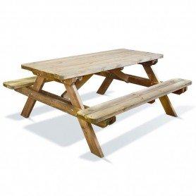 Mesa picnic madera 180 x 150 x 70 cm