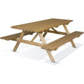 Mesa picnic madera 200 x 150 x 78 cm