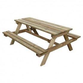Mesa picnic madera First 170 x 139,5 x 71