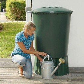 Contenedor de agua de lluvia redondo 210L.