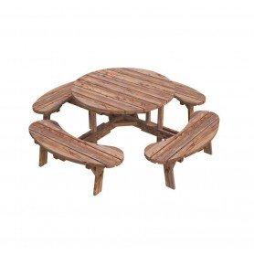 Mesa con bancos Oscar de Palmako