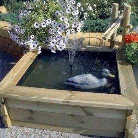 Fuente Cuadrada de madera