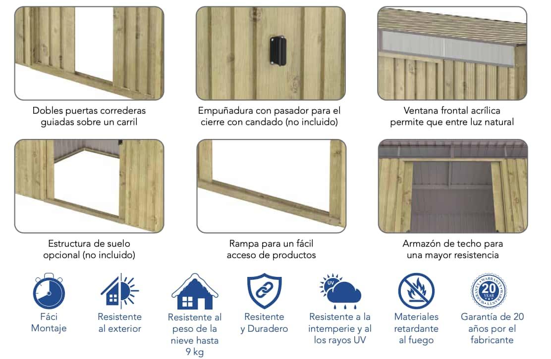 Características imitación madera